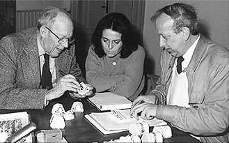Piergiorgio Dolci (a destra) in compagnia del Dott. William L. Wilson, presso il nostro laboratorio, in occasione del primo viaggio in Italia.